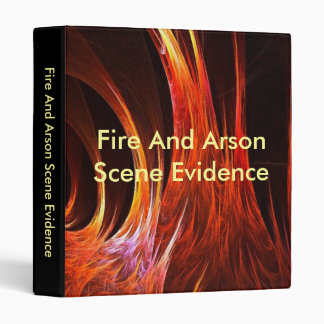 Fire And Arson Scene Evidence binder
