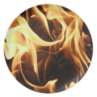 Fire and Flames Dinner Plates