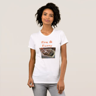 """""""Fire and Furry"""" Anti-Trump shirt for cat lovers"""