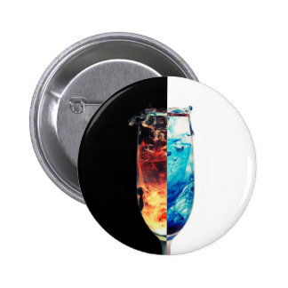 Fire and Ice 2 Inch Round Button