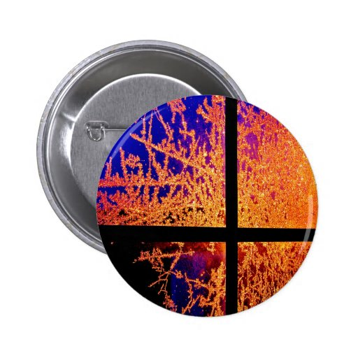 Fire and Ice Pinback Buttons