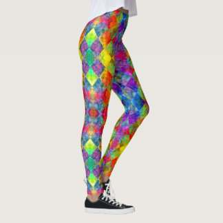 [Fire and Ice: Harlequin] BoHo Gypsy Tie-Dye Leggings