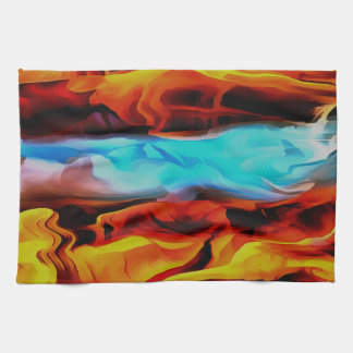 Fire and Ice Kitchen Towels