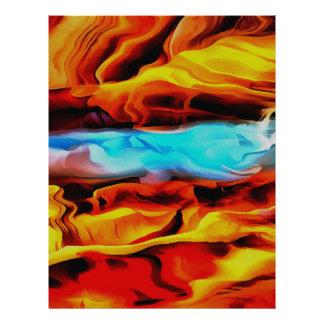 Fire and Ice Letterhead Design