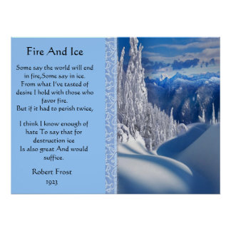 Fire And Ice Majestic Snow Top Posters