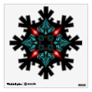 Fire and Ice Snowflake Wall Sticker
