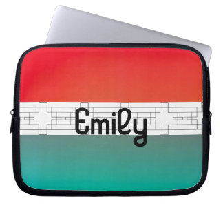 Fire and Ice Two Toned Patterned Band Case Laptop Computer Sleeve