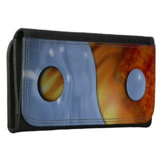 Fire and Ice Yin Yang Leather Wallet For Women
