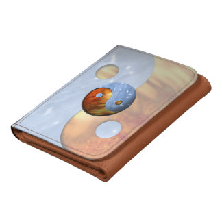 Fire and Ice Yin Yang Leather Wallets