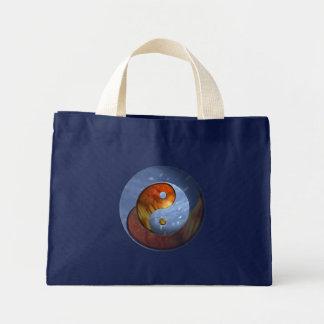 Fire and Ice Yin Yang Mini Tote Bag