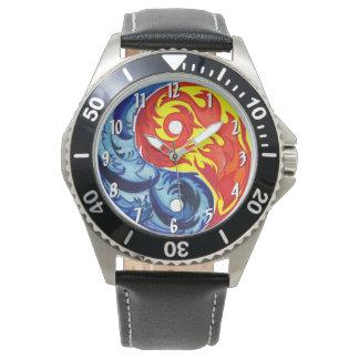 Fire and Ice Yin-Yang Watch