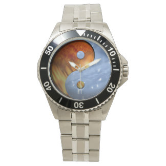 Fire and Ice Yin Yang Wrist Watch