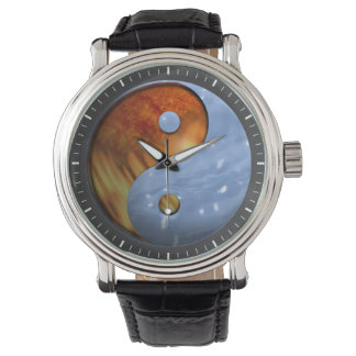 Fire and Ice Yin Yang Wrist Watches
