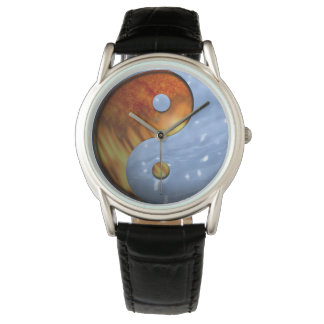 Fire and Ice Yin Yang Wristwatches