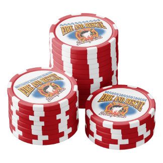Fire and Rescue Saving Lives Poker Chip Set