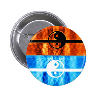 fire and water pinback buttons