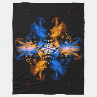 Fire and Water Dragons Fire Art Fleece Blanket