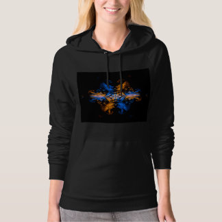 Fire and Water Dragons Fire Art Hoodie