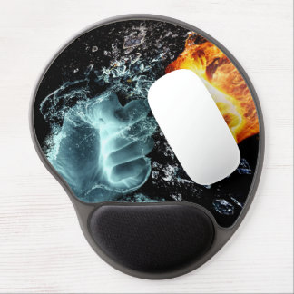 Fire and Water Gel Mouse Pad