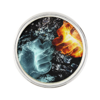 Fire and Water Lapel Pin
