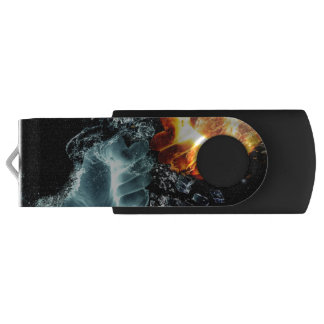 Fire and Water USB Flash Drive