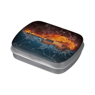 Fire and Water Violin Candy Tin
