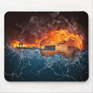 Fire and Water Violin Mouse Pad