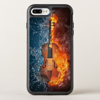 Fire and Water Violin OtterBox Symmetry iPhone 7 Plus Case