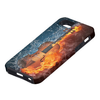 Fire and Water Violin Tough iPhone 5 Case
