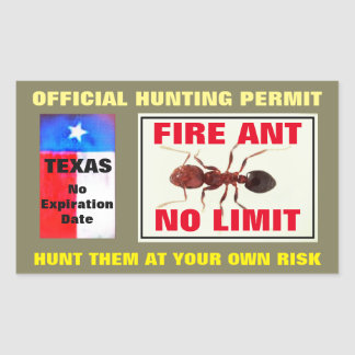 Fire Ant Hunting Permit Sticker