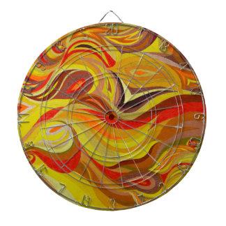 Fire art dartboard