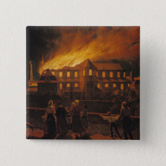 Fire at Cambrai Cathedral, 9th September 1859 2 Inch Square Button