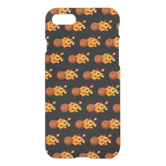 Fire Basketball iPhone 8/7 Clearly™ Case