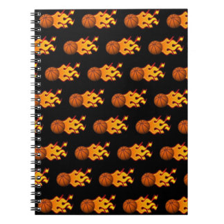 Fire Basketball Spiral Notebook