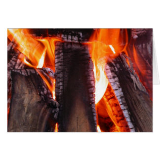 Fire Blank Greeting Card