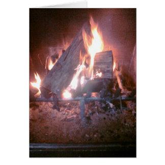 Fire  (Blank Inside) Card