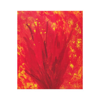 FIRE BLOOM canvas print