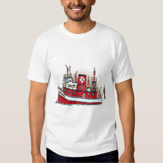 Fire Boat Ladies T-Shirt