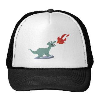 Fire-Breathing Dinosaur Art by Jeff Nevins Trucker Hat
