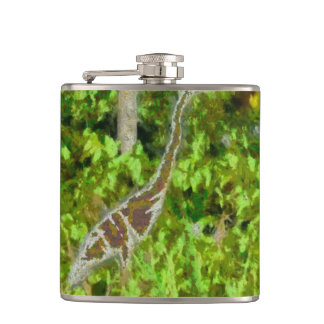 Fire breathing dragon hip flask