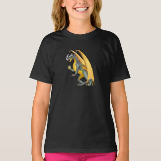 Fire Breathing Dragon  Kids Dark T-Shirt