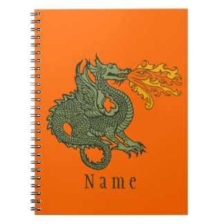 Fire Breathing Dragon Notebooks