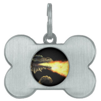 Fire breathing dragon pet tags