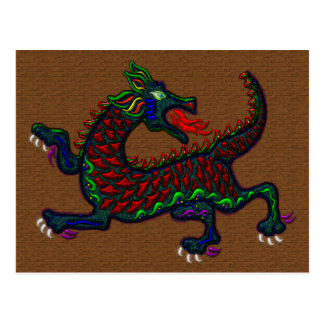 Fire Breathing Dragon Postcard