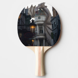 Fire breathing Dragon protecting wizard's bank Ping-Pong Paddle