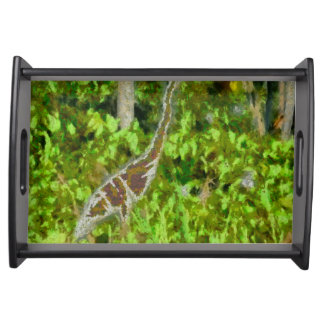 Fire breathing dragon serving tray