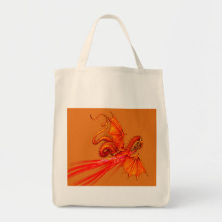 Fire breathing dragon tote bag