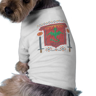 Fire Breathing Dragon Ugly Sweater Design Doggie T-shirt