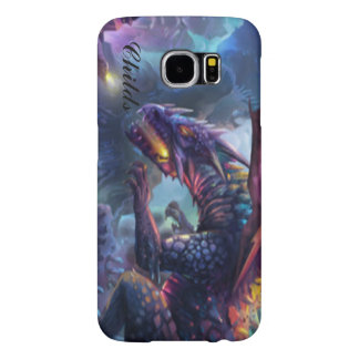 Fire Breathing Multi Colored Dragon Typography Samsung Galaxy S6 Cases