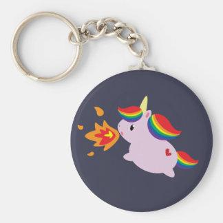 Fire-Breathing Unicorn Keychain